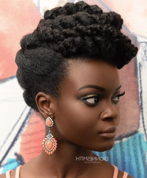 Updo Hairstyles For Black Women With Natural Hair Fresh 50 Cute Throughout Most Current Natural Black Updo Hairstyles (View 5 of 15)