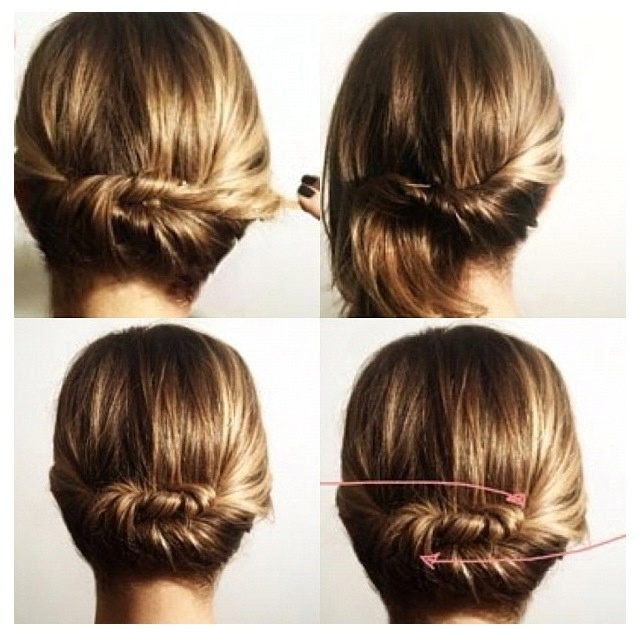Updo Hairstyles For Medium Length Hairs – Style Samba With Regard To Most Current Quick Updos For Medium Length Hair (View 15 of 15)
