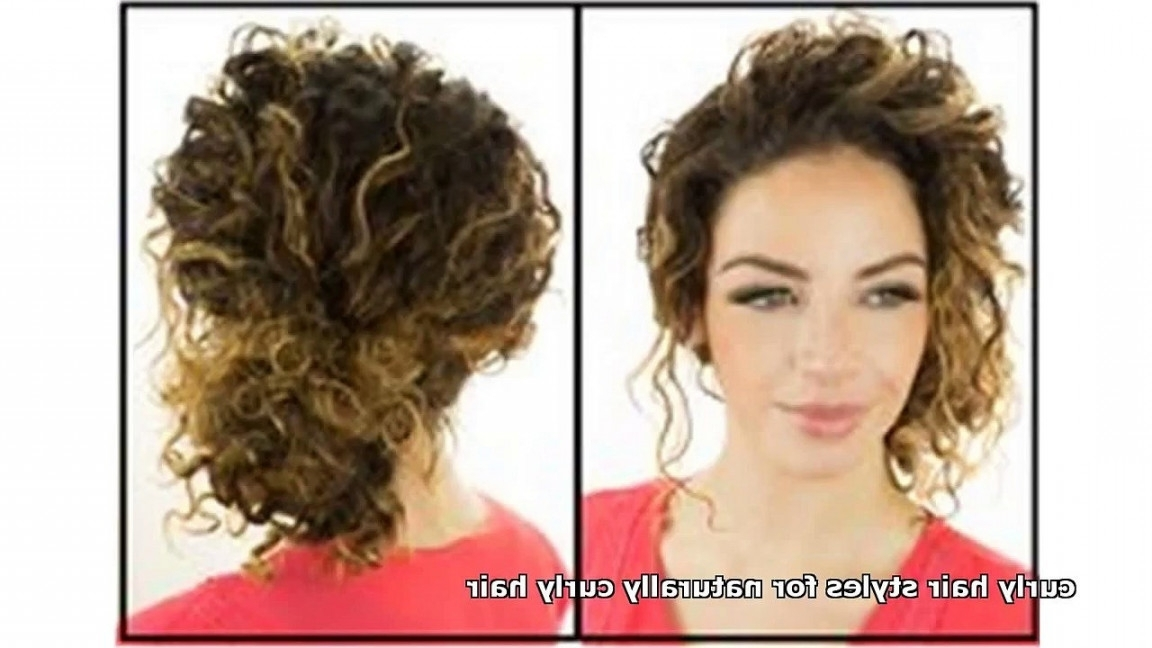 Updo Hairstyles For Naturally Curly Hair With Latest Natural Curly Hair Updos (View 7 of 15)