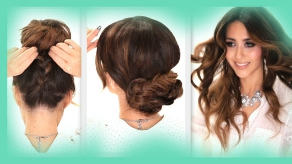 Updo Hairstyles For School 3 Easy Hairstyles | School Braids + Curls Inside Most Recent Updo Hairstyles For School (View 15 of 15)