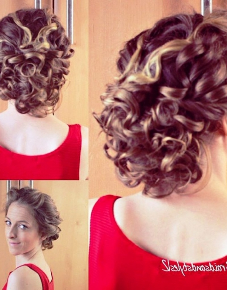 Updo Hairstyles For Short Curly Hair – Hollywood Official | Latest Regarding Current Updo Hairstyles For Medium Curly Hair (View 8 of 15)