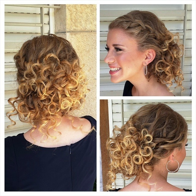 Updo Hairstyles For Short Curly Hair – Hollywood Official With Most Recently Updo Hairstyles For Short Curly Hair (View 5 of 15)