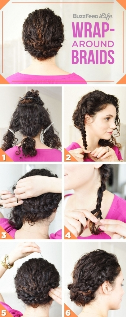 Updo Hairstyles Long Curly Hair 17 Incredibly Pretty Styles For Inside Most Recently Quick Updo Hairstyles For Curly Hair (View 14 of 15)