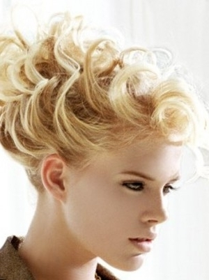 Updo Hairstyles Short Hair Regarding Most Enchanting Dressy Throughout 2018 Updo Hairstyles For Short Curly Hair (View 8 of 15)