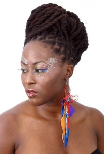 Updo Locs Hairstyle For Updo Hairstyles With Locs | Latest Intended For 2018 Dreadlock Updo Hairstyles (View 12 of 15)