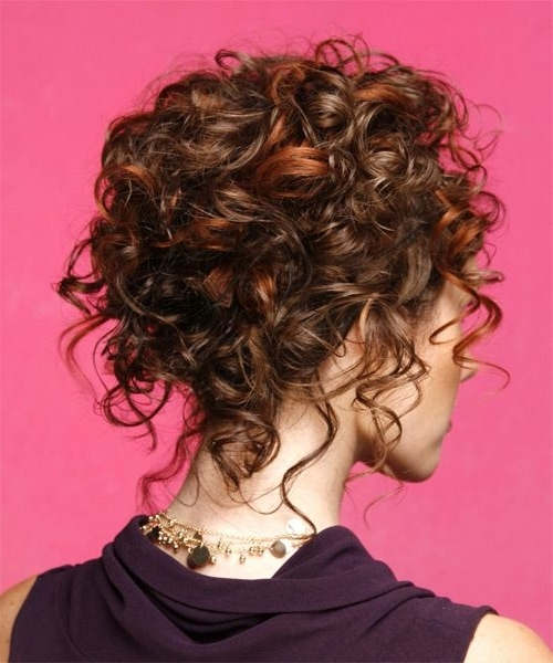 Updo Long Curly Formal Updo Hairstyle – Medium Brunette (Mahogany Pertaining To Recent Updo Hairstyles For Medium Curly Hair (View 14 of 15)