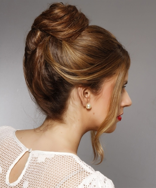Updo Long Straight Casual Wedding Updo Hairstyle – Dark Brunette In 2018 Updo Hairstyles For Straight Hair (View 8 of 15)
