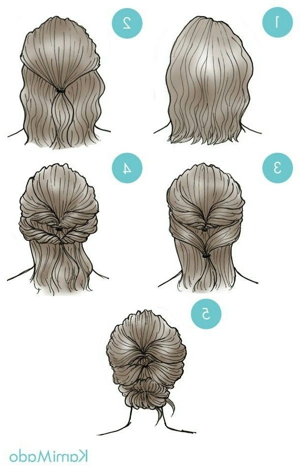 Updo Pictorial More | Hair Styles | Pinterest | Updo, Short For Most Up To Date Easy Updo Hairstyles For Short Hair (View 15 of 15)