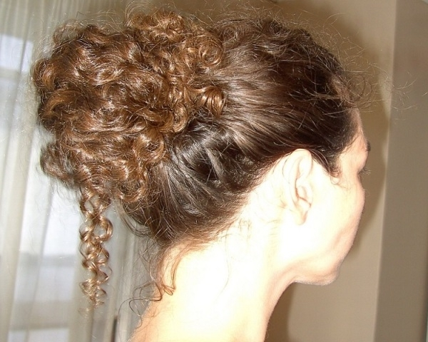 Updos For Curly Hair – Casual And Formal Curly Hair Updos For Latest Casual Updos For Curly Hair (View 15 of 15)