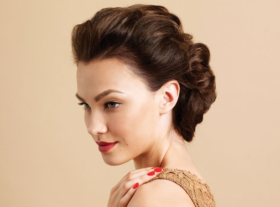 Updos For Short Hair: 69 Handpicked Short Hair Updo Styles   Hairstylo Within Most Recently 50S Hairstyles Updos (View 8 of 15)