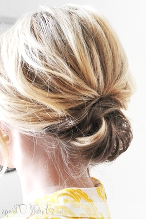 Updos For Short Hair For Current Updo Short Hairstyles (View 8 of 15)