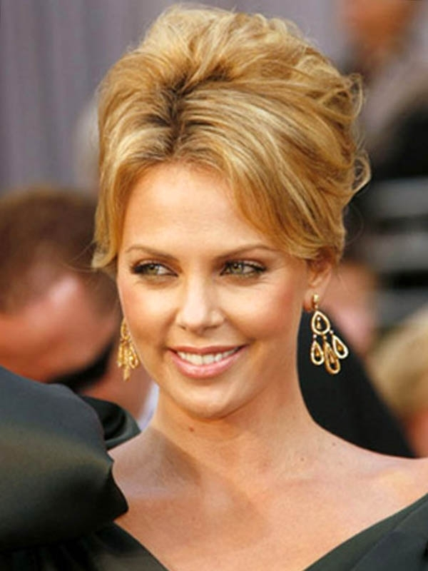 Displaying Gallery Of High Updo Hairstyles For Medium Hair View 11