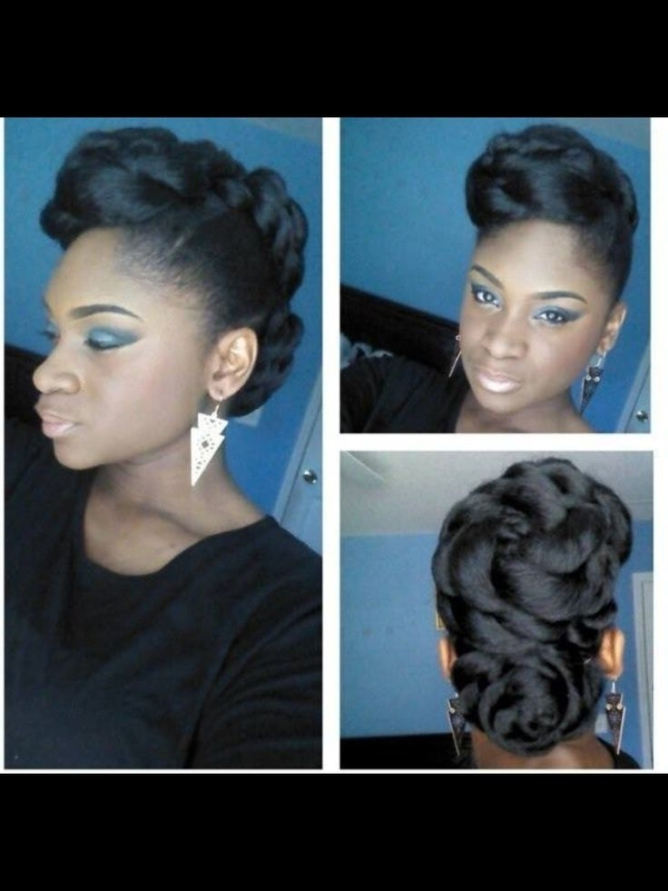 Urban Updo Hairstyles 2016 13 Hottest Black Updo Hairstyles Pretty For Most Recently Urban Updo Hairstyles (View 5 of 15)