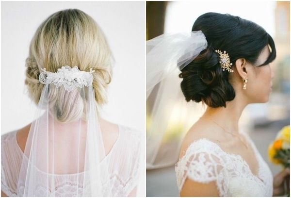 Veil Above Or Below Updo? | Veil, Weddings And Wedding Throughout Most Current Wedding Updo Hairstyles With Veil (View 7 of 15)