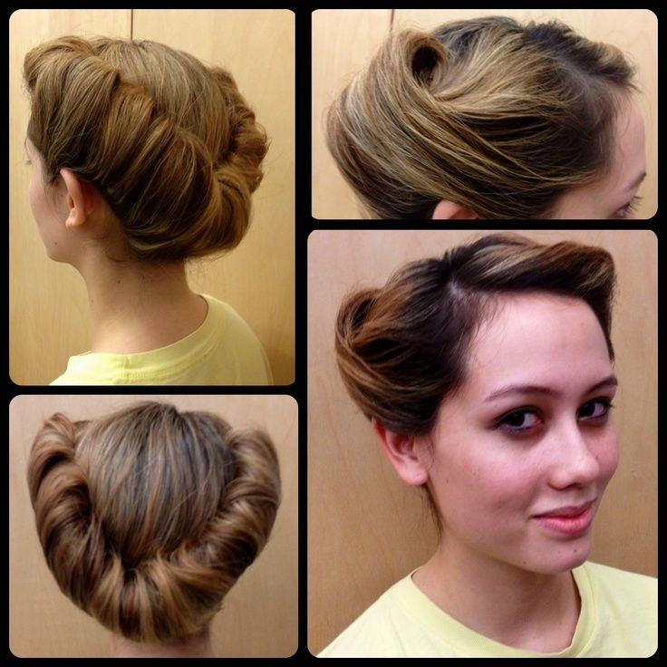 Victory Rolls – Google Search | Hair | Pinterest | Victory Rolls Throughout Most Up To Date Easy Vintage Updo Hairstyles (View 10 of 15)