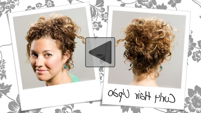 Video Curly Hair Tutorial For Natural | Medium Hair Styles Ideas – 45892 With Regard To Most Popular Casual Updos For Naturally Curly Hair (View 15 of 15)