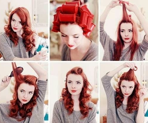 Vintage Hairstyles: Easy Vintage Hair Model Throughout Current Easy Vintage Updo Hairstyles (View 13 of 15)