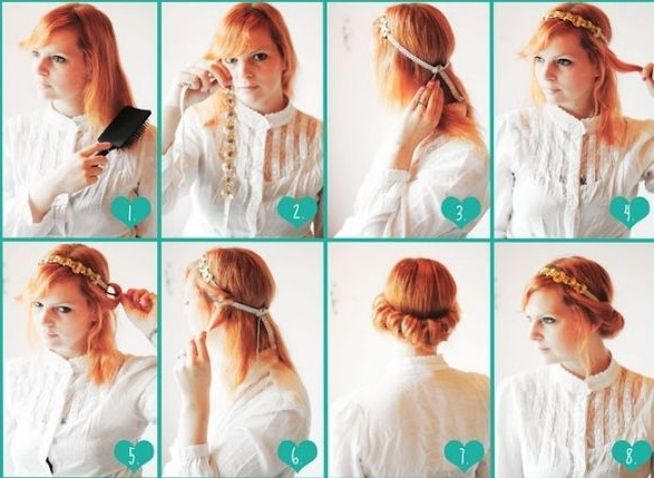 Delightful Vintage Hairstyles For Long Hair Tutorial Stylish And Vintage Within Recent Easy  Vintage Updo Hairstyles (
