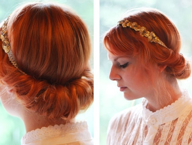Vintage Updo Hairdo Tutorial: Easy Updo Hairstyles For Prom Inside Most Up To Date Vintage Updo Hairstyles (View 13 of 15)