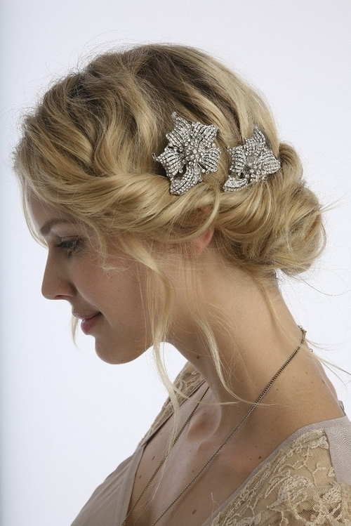 Vintage Wedding Hairstyles With Updo Vintage Wedding Hairstyles For Inside Best And Newest Vintage Updo Hairstyles (View 2 of 15)