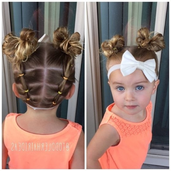"""Viv Looked In The Mirror Today And Said, """"i Look Like Minnie For Recent Updo Hairstyles For Little Girl With Short Hair (View 12 of 15)"""