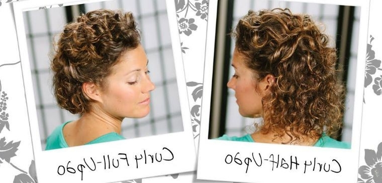 Watch: Wedding Inspired Updo For Short, Curly Hair | Naturallycurly In Latest Naturally Curly Hair Updo Hairstyles (View 9 of 15)