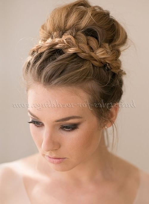 Wedding Bun Hairstyle 10 Best Photos | Wedding Bun Hairstyles, Bun Intended For Newest Wedding Bun Updo Hairstyles (View 11 of 15)