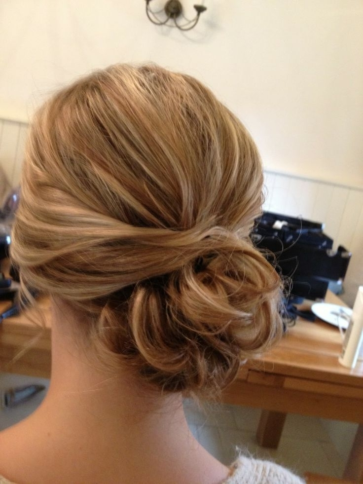 Wedding Hair Side Bun | Hair | Pinterest | Wedding Hair Side, Hair With Best And Newest Low Bun Updo Wedding Hairstyles (View 14 of 15)
