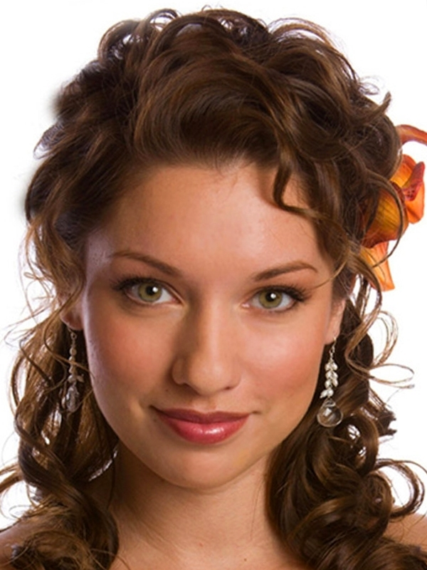 Wedding Hair | When I Grow Up, I Want To Be A Wedding Planner Pertaining To Recent Curly Updo Hairstyles For Medium Length Hair (View 13 of 15)