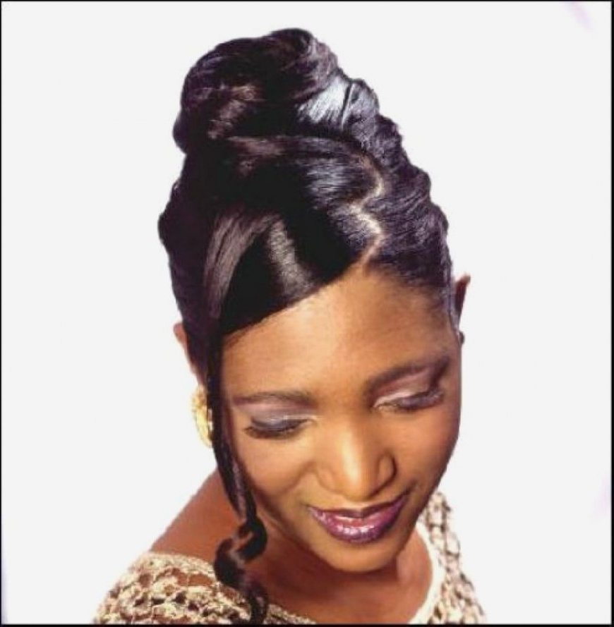 Photos Of Afro American Updo Hairstyles Showing 10 Of 15 Photos