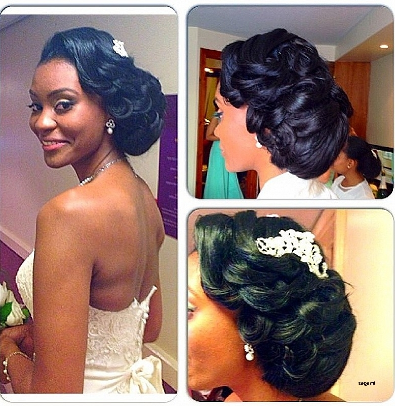 Wedding Hairstyles: Best Of Black Hairstyles For Weddings Updos Throughout Most Up To Date Updo Hairstyles For Black Bridesmaids (View 14 of 15)