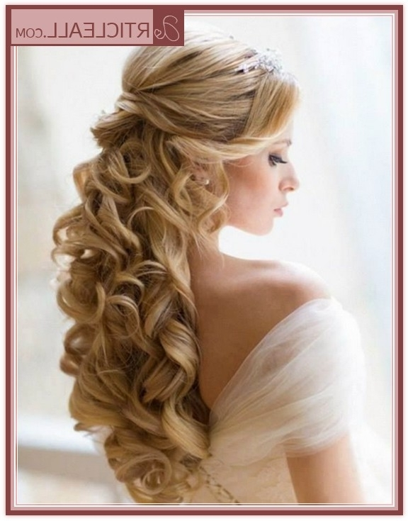 Wedding Hairstyles Curly Hair Endearing Wedding Hairstyles With Pertaining To Recent Bridal Updos For Curly Hair (View 4 of 15)