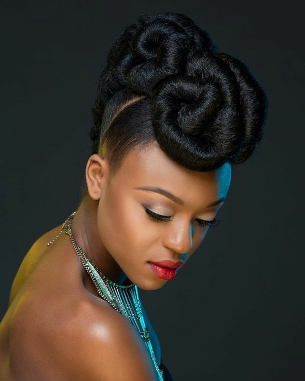 Wedding Hairstyles For Black Women, African American Wedding Haircuts Inside Recent African Updo Hairstyles (View 15 of 15)