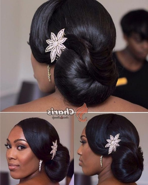 Wedding Hairstyles For Black Women, African American Wedding Haircuts Pertaining To Most Current Updo Hairstyles For Black Bridesmaids (View 5 of 15)