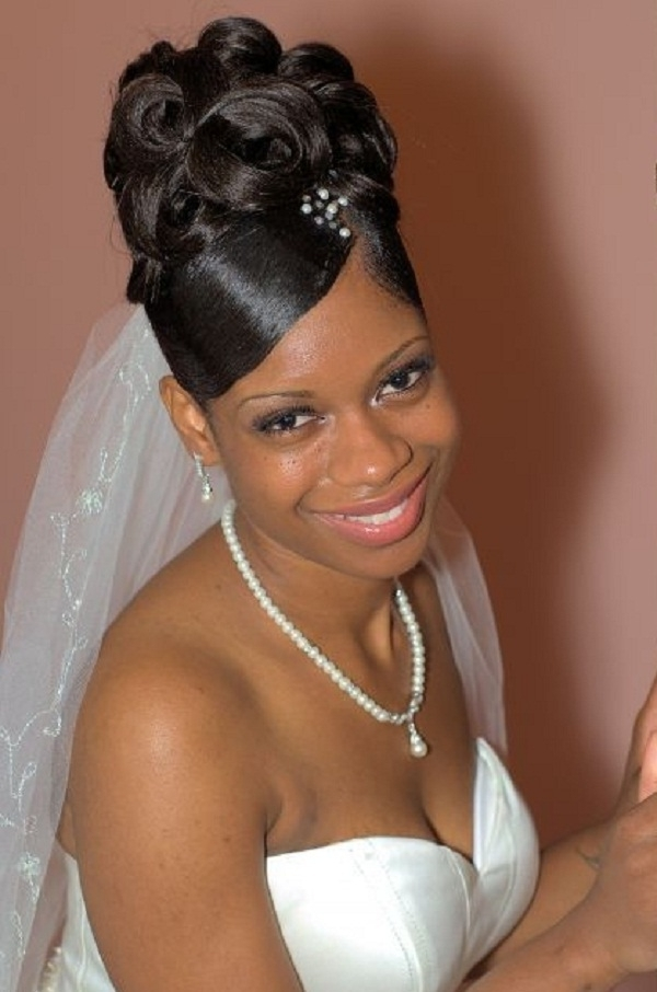 Wedding Hairstyles For Black Women Updo | Wedding Hairstyles For With Regard To Recent Black Bride Updo Hairstyles (View 3 of 15)