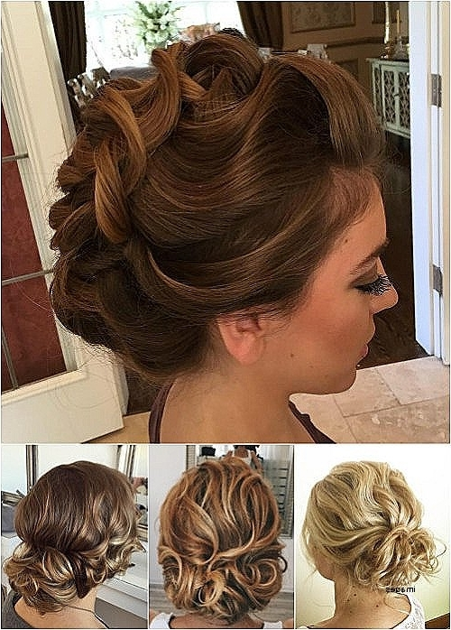 Wedding Hairstyles For Curly Medium Length Hair Luxury 60 Easy Updo Throughout 2018 Curly Updo Hairstyles For Medium Hair (View 10 of 15)
