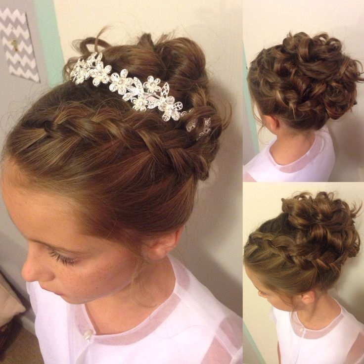 Wedding Hairstyles For Little Girls Best Photos | Weddings, Girls With Best And Newest Teenage Updo Hairstyles (View 12 of 15)