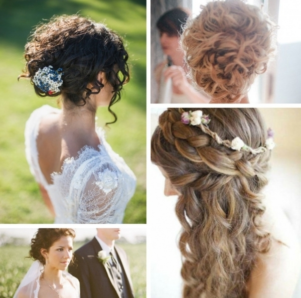 Wedding Hairstyles For Naturally Curly Hair » Off The Page Throughout Best And Newest Bridal Updos For Curly Hair (View 11 of 15)