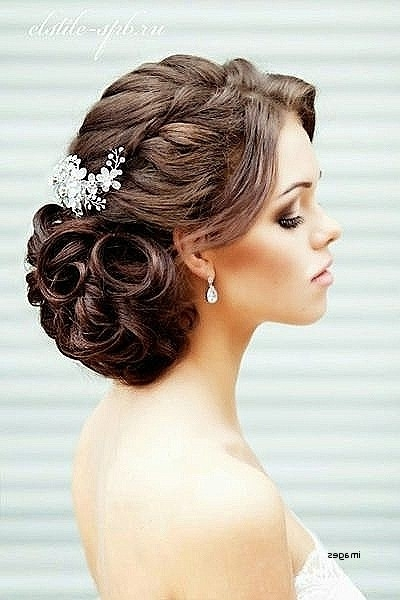 Wedding Hairstyles For Thick Curly Hair Luxury Wedding Hairstyles With Most Current Wedding Updos For Thick Hair (View 5 of 15)