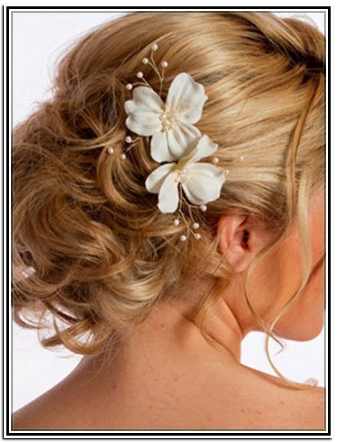 Wedding Hairstyles Ideas: Low Side Curly Updo Hairstyles For Long With Most Recently Wedding Updo Hairstyles For Medium Hair (View 10 of 15)