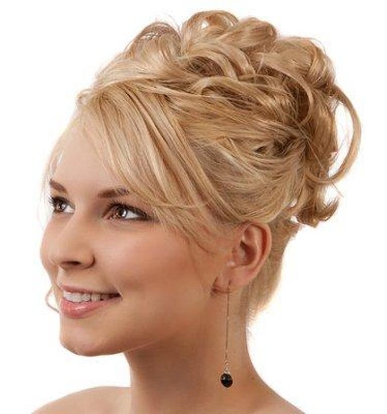 Wedding Hairstyles Ideas: Side Ponytail High Updo Hairstyles For With Regard To Recent High Updo Hairstyles For Medium Hair (View 3 of 15)