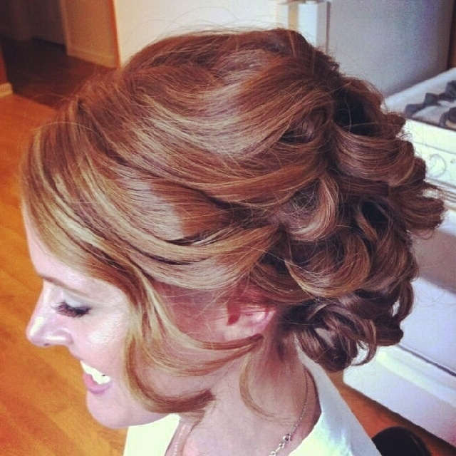 Wedding Hairstyles Ideas: Side Ponytail Medium Length Hair Updo With Regard To Newest Curly Updo Hairstyles For Medium Length Hair (View 15 of 15)