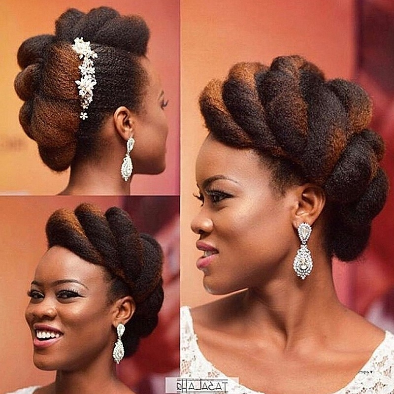 Photo Gallery Of Natural Hair Updo Hairstyles For Weddings Showing
