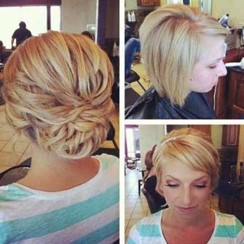 Showing gallery of wedding hairstyles for short hair updos view 4 wedding hairstyles updos short hairstyle and bobs intended for most up to date wedding junglespirit Gallery