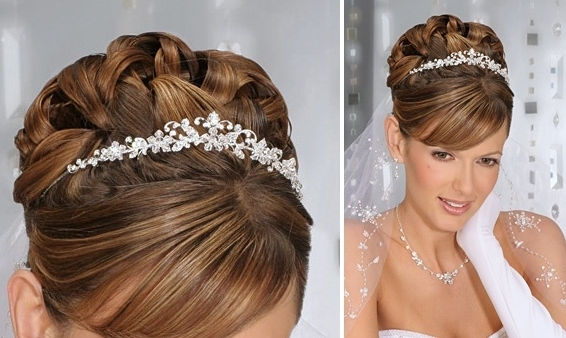 Wedding Hairstyles Updos With Veil 2012 With Most Up To Date Wedding Updo Hairstyles With Veil (View 14 of 15)