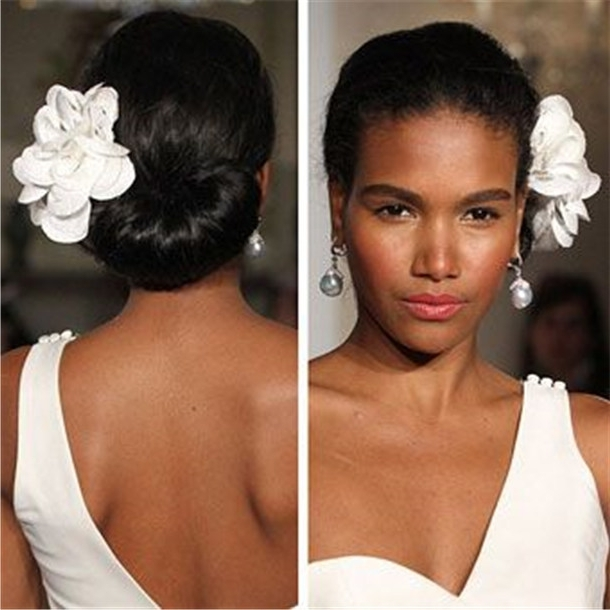 Wedding Updo Hairstyles For Black Brides Within Current Black Bride Updo Hairstyles (View 14 of 15)