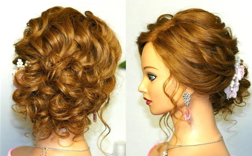 Wedding Updos For Curly Hair Prom Wedding Hairstyle Curly Updo For For Newest Curly Updos For Medium Hair (View 15 of 15)