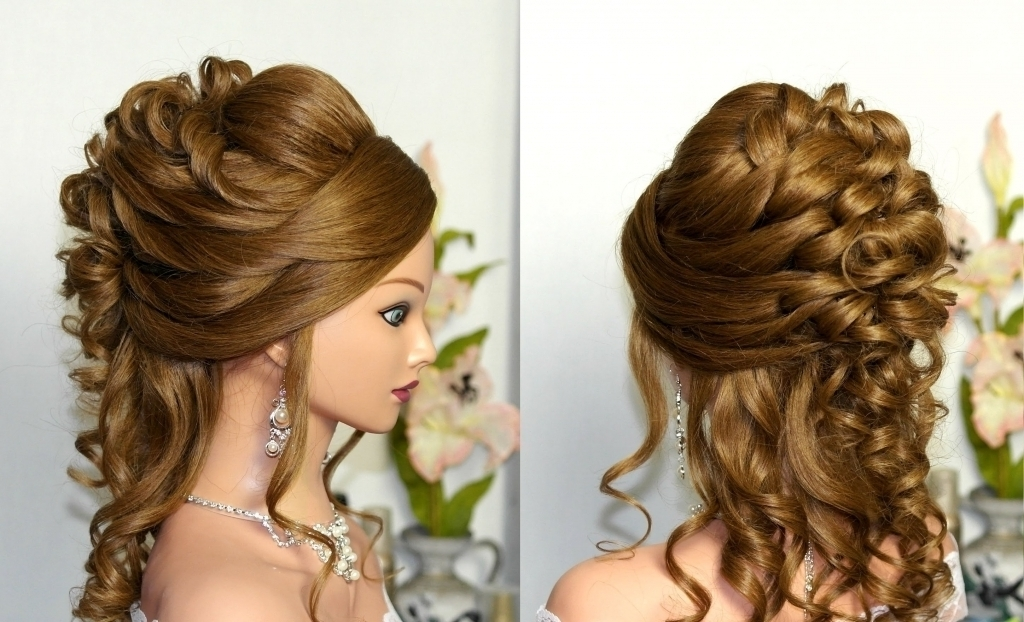 Wedding Updos For Curly Hair Wedding Updo Curly Prom Hairstyles Easy Throughout Most Popular Hair Updos For Curly Hair (View 13 of 15)