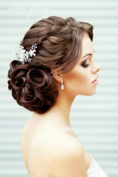 Wedding Updos For Long Curly Hair For Inspire – My Salon In Most Up To Date Bridal Updos For Curly Hair (View 7 of 15)