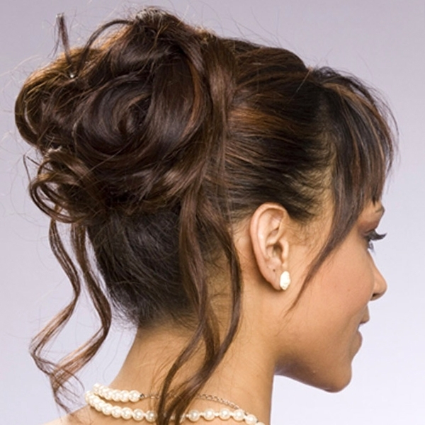 Wedding Updos Hairstyles For Medium Length Hair : 8 Nice Wedding Intended For Most Current Wedding Updos For Medium Length Hair (View 12 of 15)